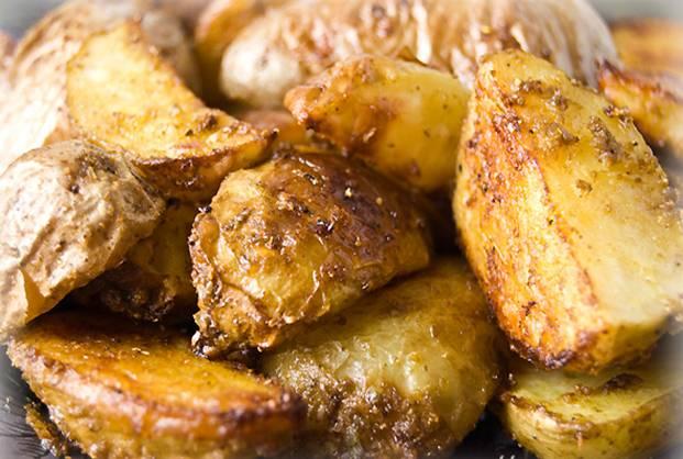 Отварной картофель в духовке