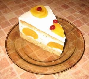 торт-суфле с персиками1