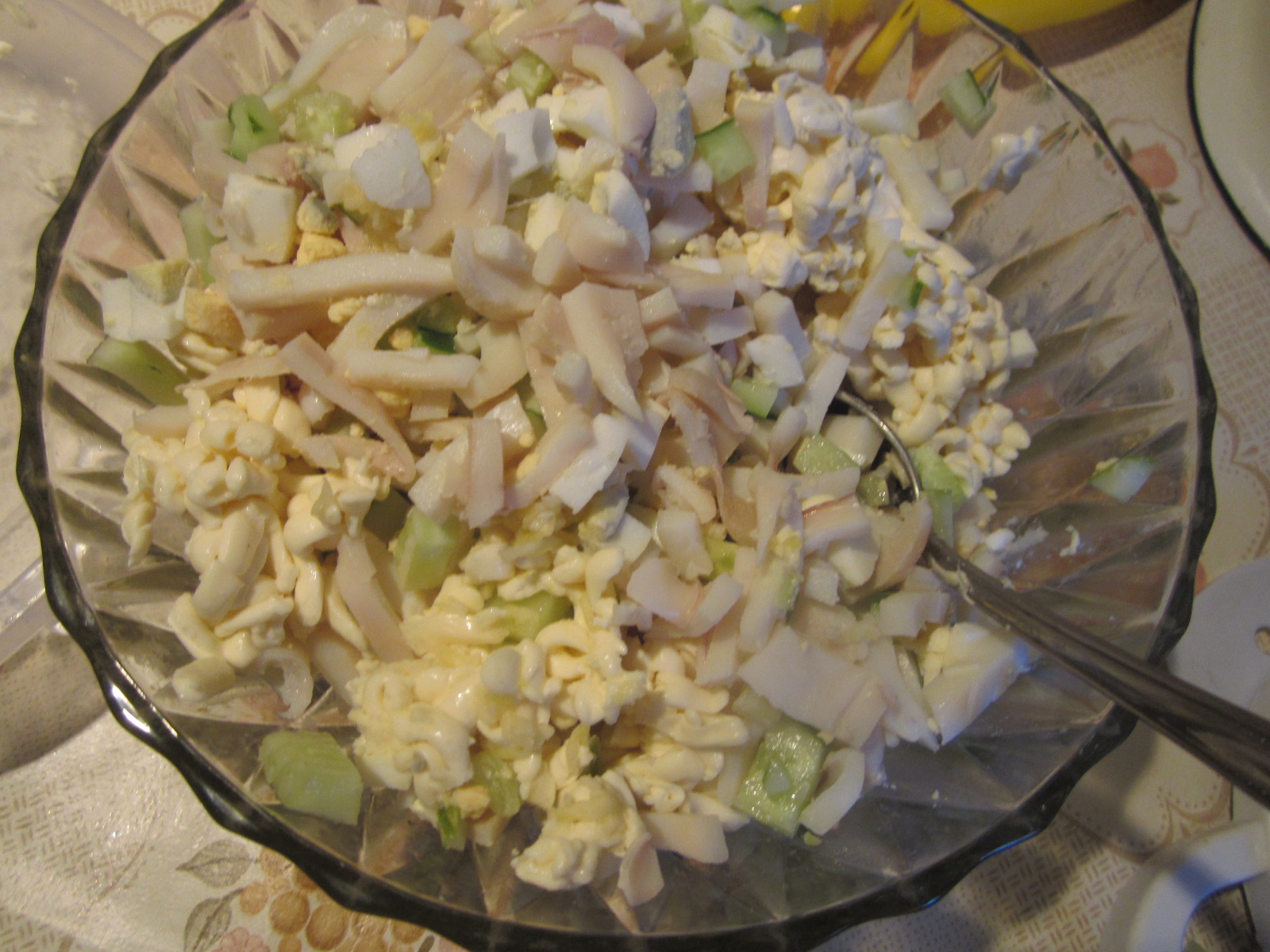 Постный салат с кальмарами рецепт пошагово