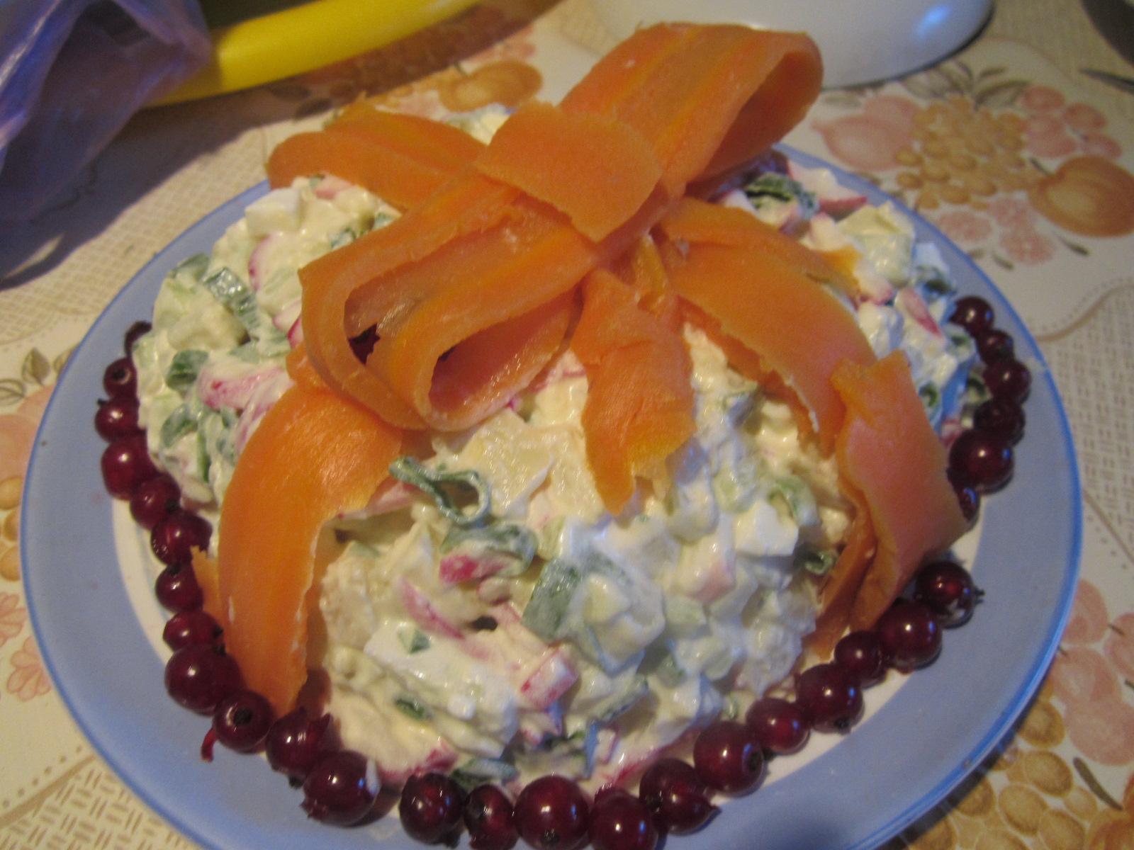 Салат праздничный с ветчиной рецепт пошагово в