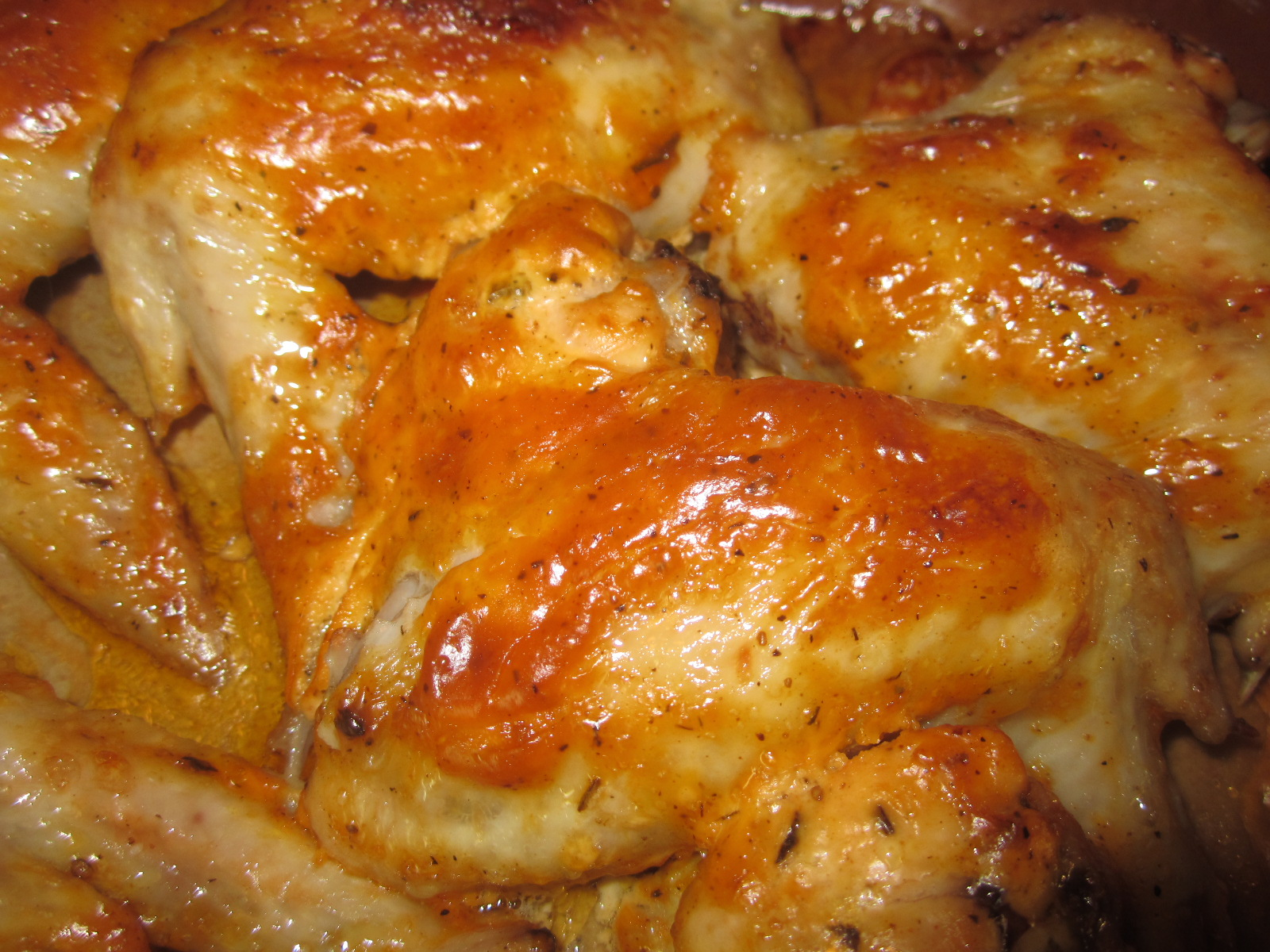 Медовые крылышки в соевом соусе, запеченные
