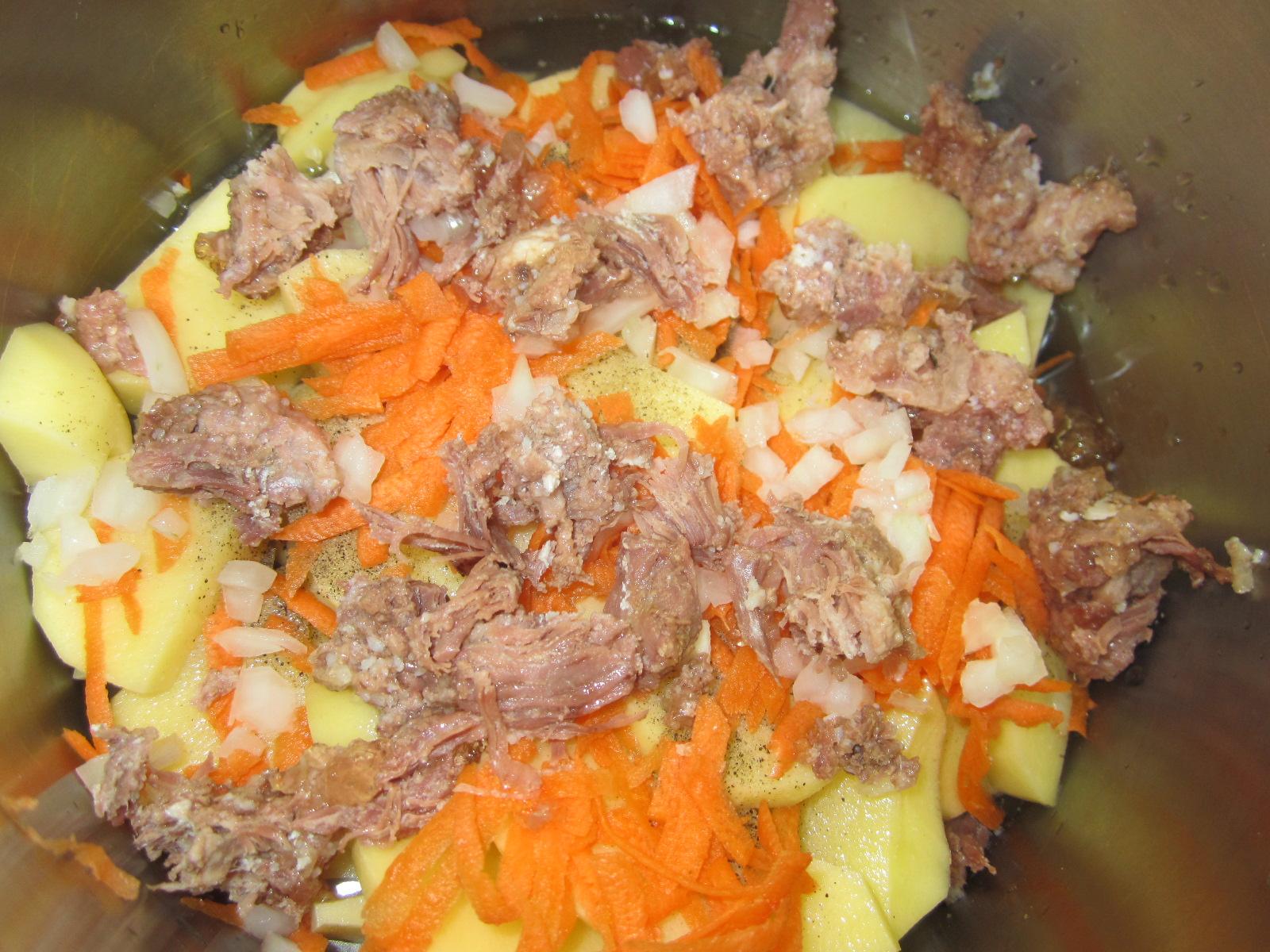 Свинина тушеная с картошкой пошагово