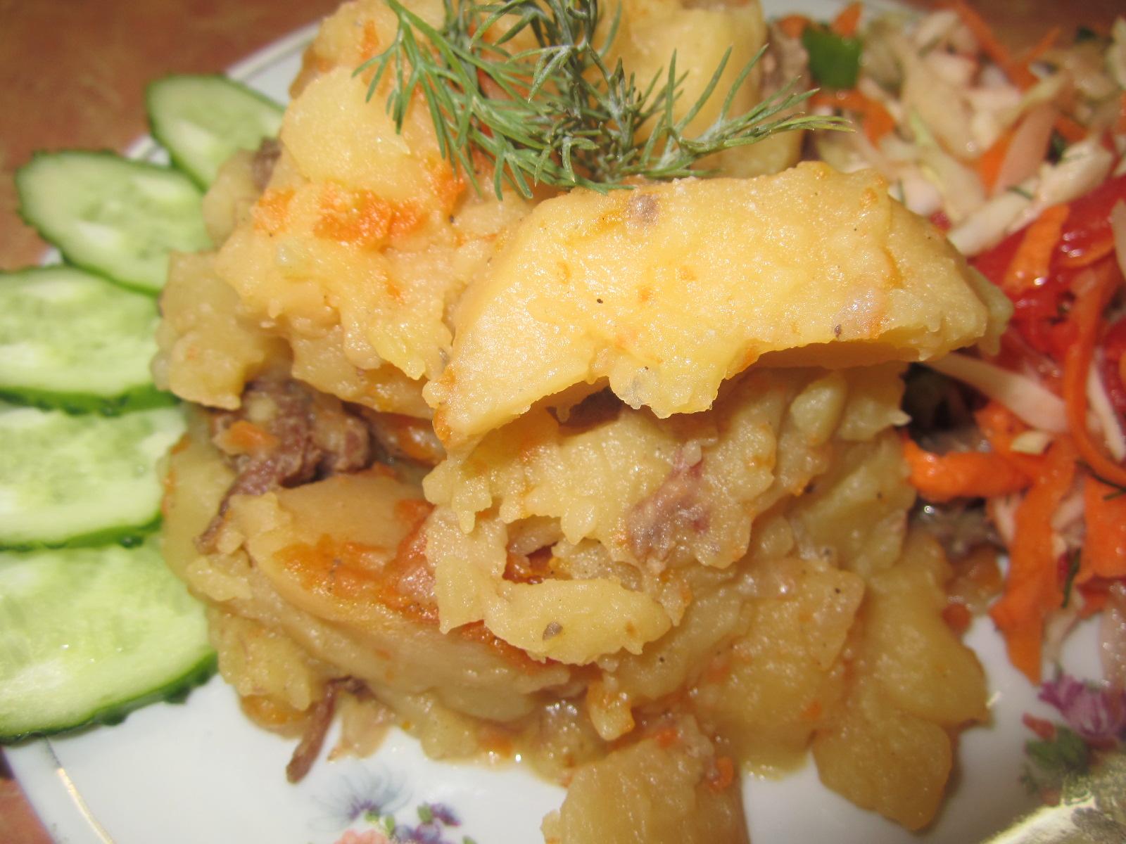 Картошка тушеная в скороварке рецепт