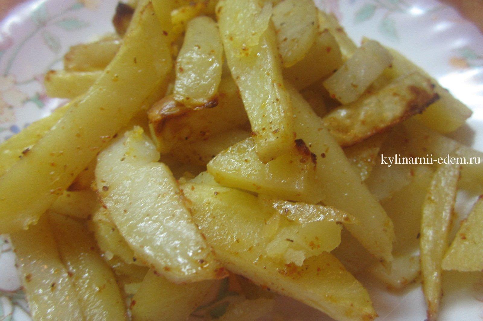 Картофель фри в духовке рецепт пошагово в