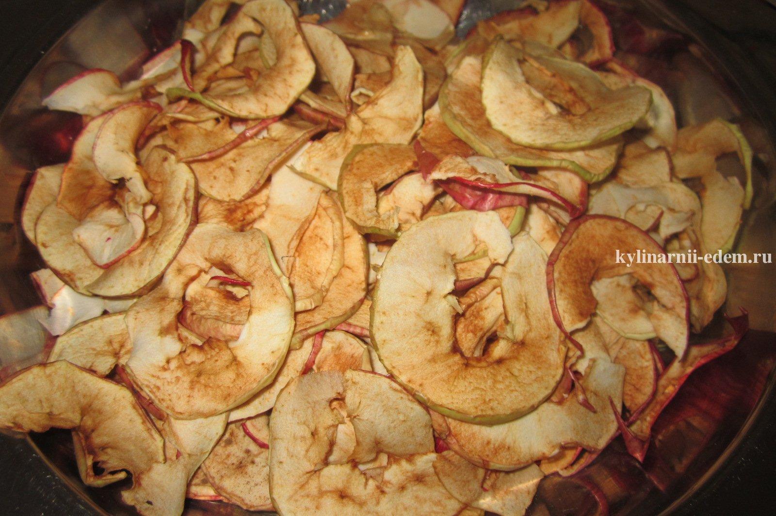 Сушеные яблоки в духовке рецепт пошагово