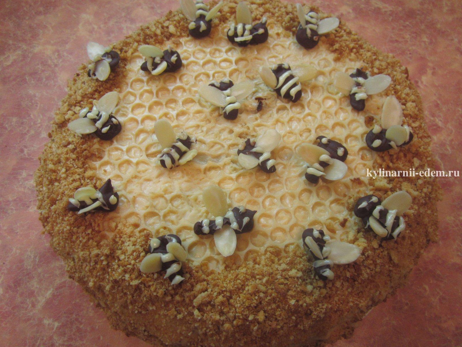 Торт пчелка рецепт с фото пошагово в домашних условиях 810