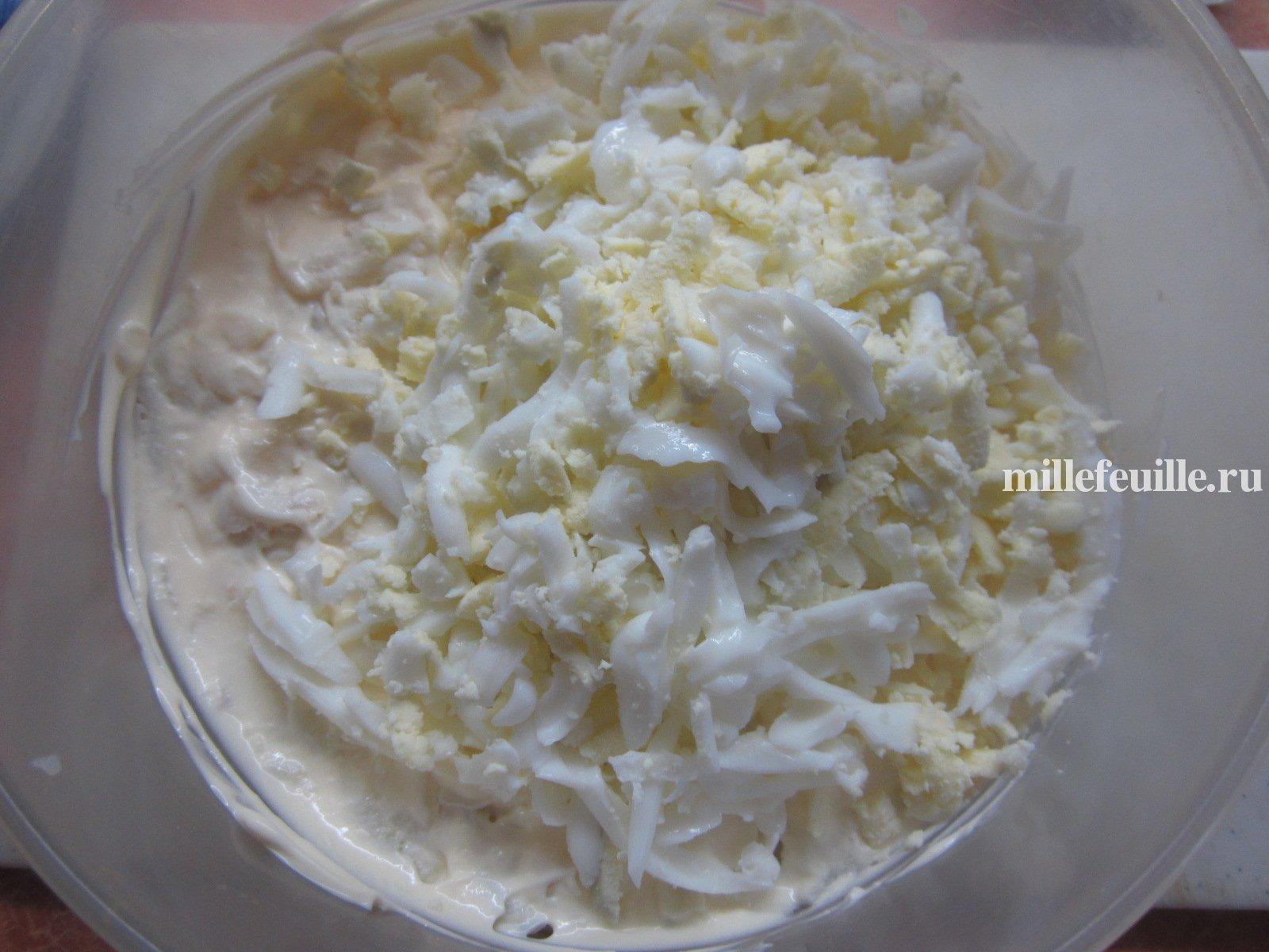 Салаты слоями рецепты с ветчиной и сыром рецепт